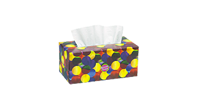 Delicate Touch brand facial tissues